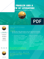 the problem and review of literature