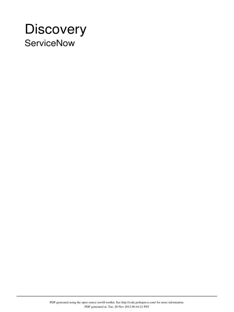 225127238-ServiceNow-Discovery-in-Detail pdf | Secure Shell