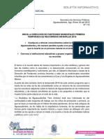 Boletín Recorridos Infantiles en Panteones (1-18-2017)