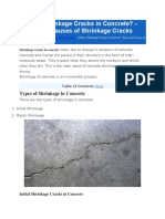 What is Shrinkage Cracks in Concrete