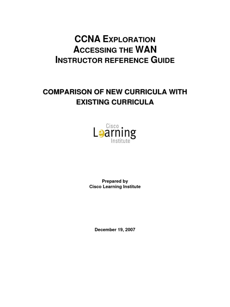 CCNA Exploration-Accessing the WAN-IRG[1] | Virtual Private Network | Cisco  Certifications