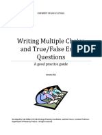 Multiple Choice and True False Exam Question Design Booklet