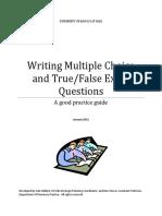 Multiple Choice and True False Exam Question Design Booklet