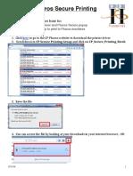 Pharos Secure Printing on Windows