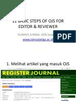 Basic Ojs for Editor & Reviewer by Rumah Jurnal Iain Salatiga