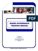 Board Governance Training Manual