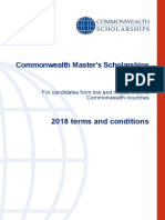 Terms Conditions Masters Scholarships 2018