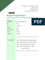 CV Muhammad Ridwan