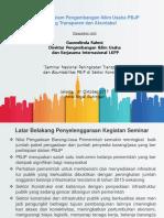 Paparan Seminar Transparansi PBJP--LKPP