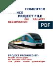Railway Reservation in C