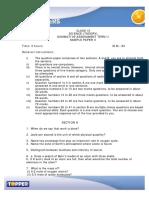Class 9 Science Sa2 Sample Paper(4)
