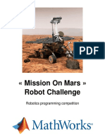 Competition Mission on Mars Robot Challenge 2016 English