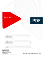 ECU List 6 8 0 New Features List
