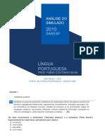 Análise do Simulado Saresp Língua Portuguesa 6ª série