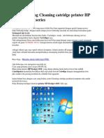 Cara Gampang Cleaning Catridge Printer HP Deskjet 1010 Series