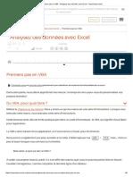 Premiers Pas en VBA - Analysez Des Données Avec Excel - OpenClassrooms
