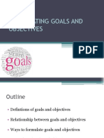 3. Goals and Objectives