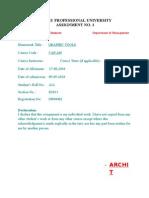 Assignment (Cap 209)
