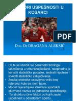 Dr Dragana Aleksic Faktori Uspesnosti u Sportu