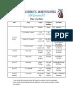 Antibiotic awareness- class schedule.docx