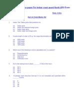 Indian Coast Guard Navik GD Previous Model Question Paper PDF Download
