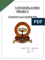 Physics Investigatory Project Class 12 T