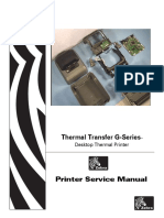 Zebra G-series Thermal Transfer_Service Manual