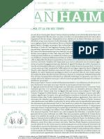 Mayan 'Haim Vayéhi 5778