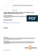 Carbon capture retrofit options with the on-site addition of gas turbine combined heat and power cycle
