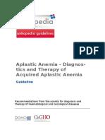 Aplastic Anemia Diagnostics and Therapy of Acquired Aplastic Anemia