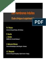 Les membranes induites Etude clinique et expérimentale - e-plastic.fr