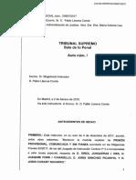 Interlocutòria del Suprem que denega la llibertat a Joaquim Forn