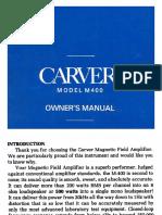 Carver M-400 Manual