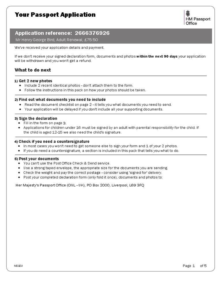 Passport Application Declaration 3pdf Passport Government And