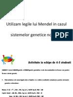 Applying Mendel's Laws on Genetic Systems RO