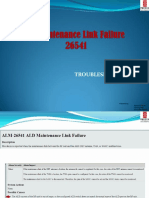 156121414 Ald Maintenance Link Failure Alarm Tutorial for Version 521