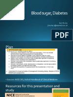 Blood Sugars - Diabetes
