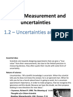1.2 - Uncertainties and Errors