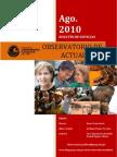 Boletín mensual de noticias, agosto 2010