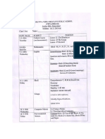 Class 1sa2 Timetable Syllabus