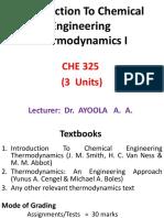 CHE 325 Module 1 & 2
