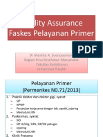dr. maskito Quality Assurance Faskes  Pelayanan Primer.pptx