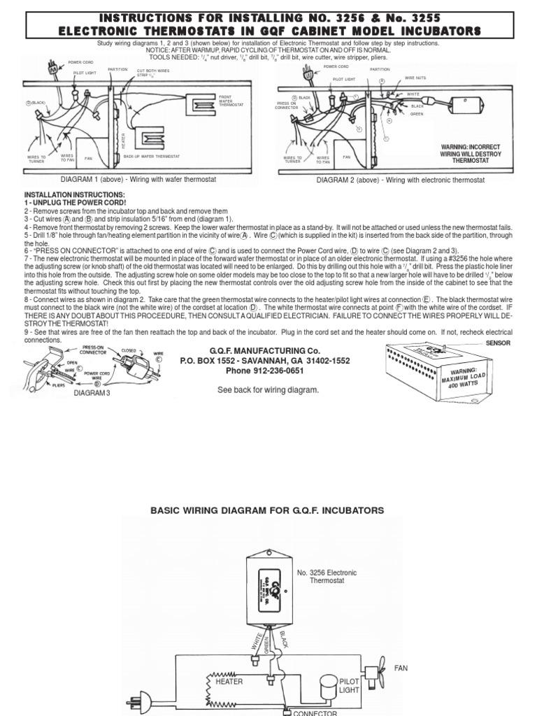 circuitotermostato thermostat tools Gqf Incubator Parts Gqf Incubator Thermostat Wiring Diagram #17