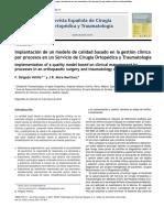 Implantación de un modelo de calidad basado en la gestión clínica por procesos en un Servicio de Cirugía Ortopédica y Traumatología