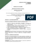 Decreto Blindados- Marzo 2 de 2010