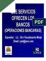 Que Servicios Ofrecen Los Bancos Ciro Yacsahuache