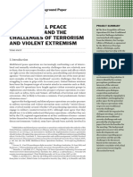 Multilateral peace operations and the challenges of terrorism and violent extremism