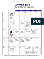 2018 Indianapolis City-County Council Calendar