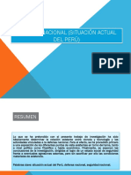 Defensa Nacional (Situación Actual Del Perú) Diapositivas