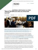 Los Independentistas Vaticinaron Su Crisis_ _Menos Del 50% de Votos Es El Final Del 'Procés'_ _ Espana
